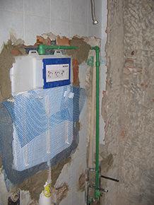 cassetta di scarico per vaso igienico in un intervento di ristrutturazione edilizia