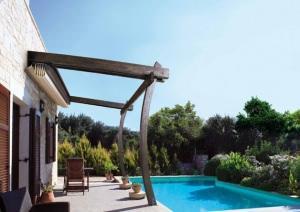 KE protezioni solari: pergolato con tenda