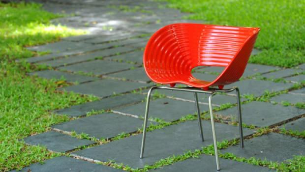 Sedie Blu Petrolio : Sedie rosse in plastica