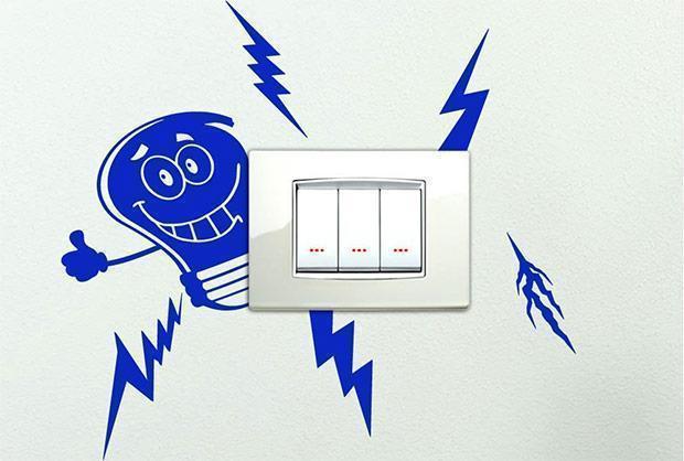 Sticker per interruttore elettrico Amazon