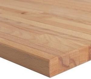Un particolare di legno lamellare in faggio