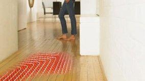 Riscaldamento efficiente, pavimento radiante