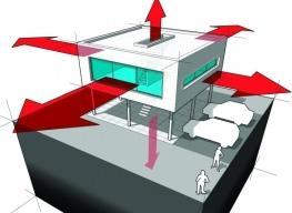 dispersione termica in un edificio