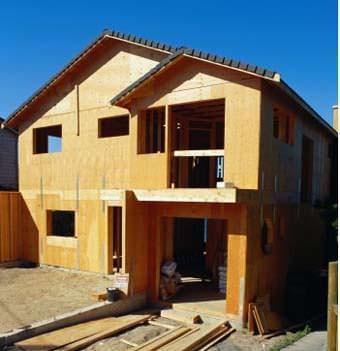 Una costruzione singola interamente in legno
