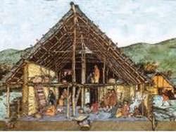 Una costruzione in legno del Neolitico