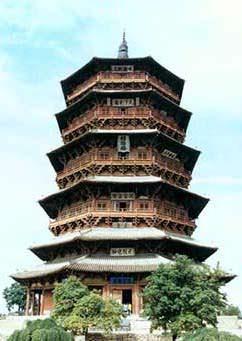 Una antica pagoda Cinese di 900 anni