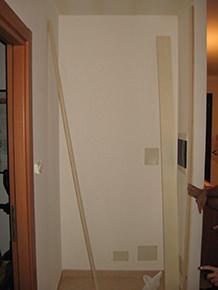 Come Costruire Un Armadio A Muro Con Ante Scorrevoli.Ricavare Un Armadio A Muro In Nicchia