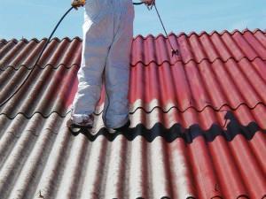 Incapsulamento su pannelli di copertura in amianto