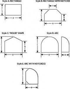 Forme dei pannelli Robax di Schott