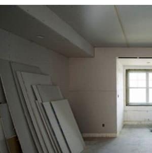 Un interno costruito con carongesso