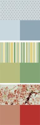 Palette colori e carta da parati per la camera da letto