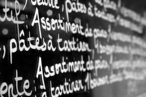 Scritta in francese su parete