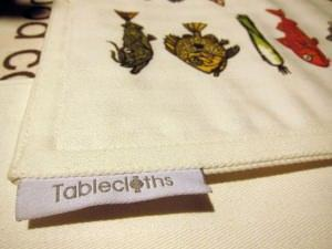 tablecloths, per Taste Roma