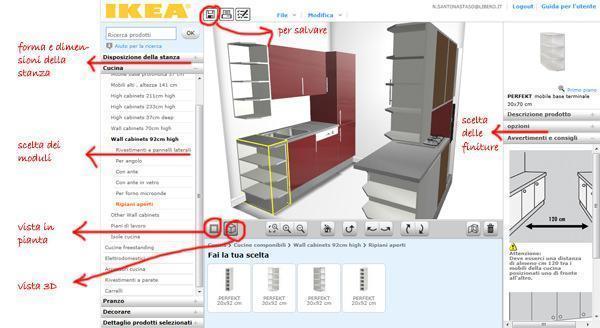 Cambiare la disposizione dei mobili in cucina - Planner cucina ikea ...