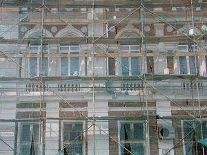 Restauro di un palazzo