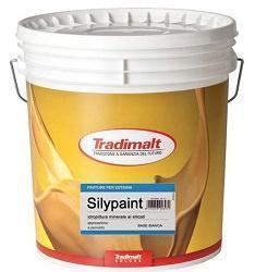 Pittura riempitiva minerale a base di silicato di potassio Silypaint di Tradimalt