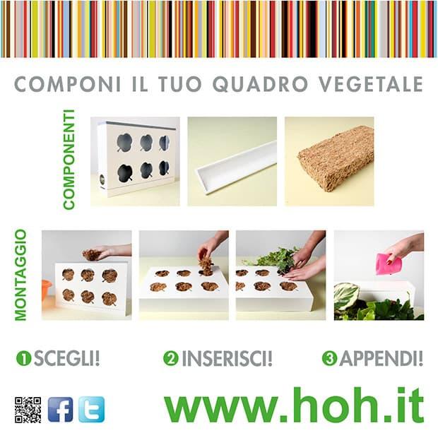 Ortisgreen. Quadro vegetale HOH! Logo