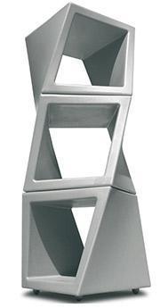 AMAZON: Cubo scaffale pouff, sgabello, tavolino, comodino, poggiapiedi impilabileTwisty open drydesign
