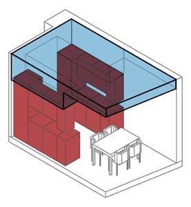 Modello 3D controsoffitto