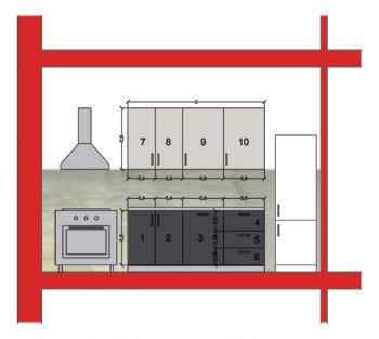 Dimensioni Mobili Cucina Componibile. Cool Misure Cucine ...
