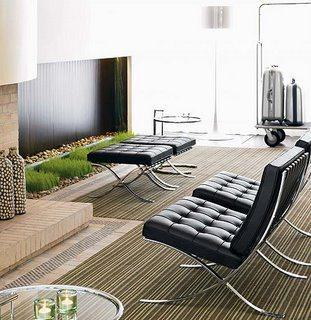 casa minimalista, Barcelona Chair, Knoll