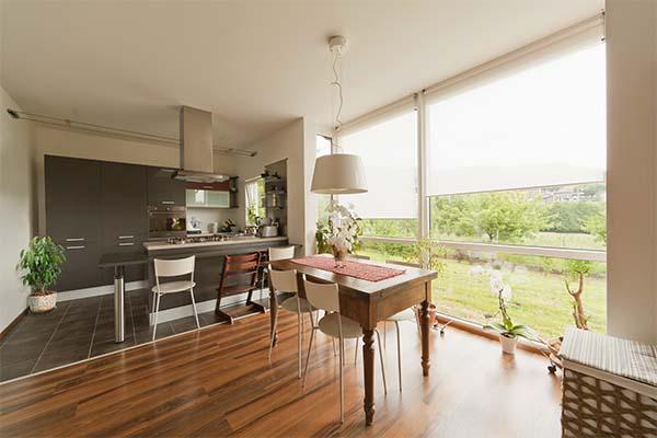 Case prefabbricate moderne prezzi, Sapzio Positivo: particolare cucina e living