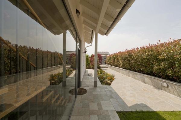 Casa prefabbricata di Spazio Positivo: modello La Spezia, part. esterno