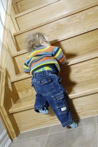 Scala in casa pericolosa per bambini
