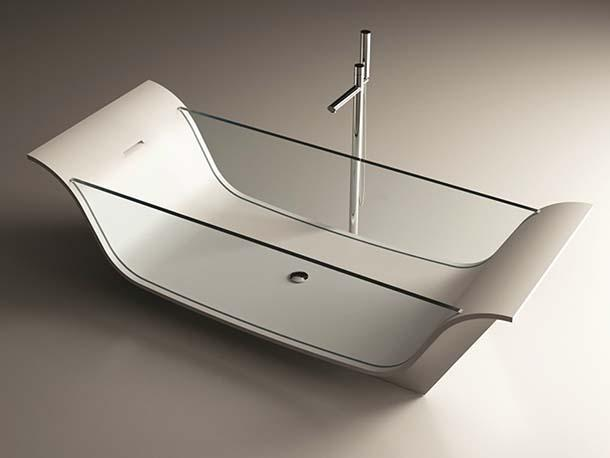 Vasca Da Bagno Freestanding Corian : Vasche da bagno in vetro