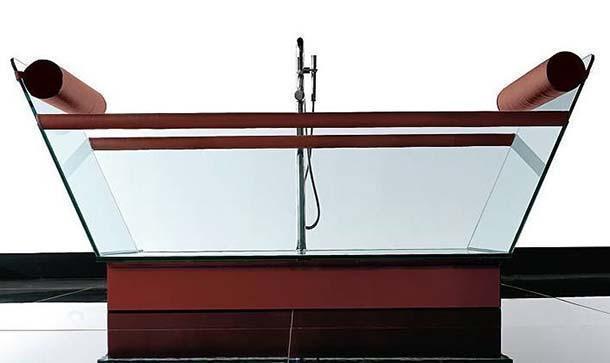 vasca in vetro milo di treesse