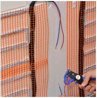 Rivestimenti termici una fase di montaggio dei pannelli