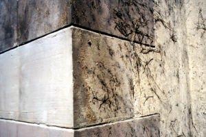 pulizia muro.  sabbiatura crigenica