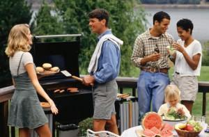 Barbecue in giardino