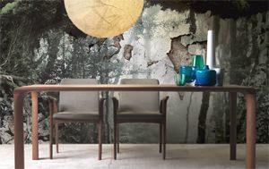 tavolo rettangolare in legno sintesi di linfadesign