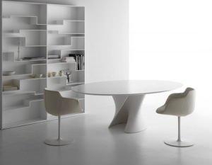 Tavolo tondo ovale o squadrato - Tavolo in cristallo ovale ...
