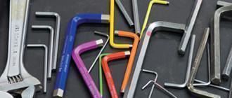 Chiavi maschio piegate Rainbow di PB Swiss Tools