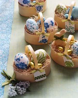 cestini fai da te e uova decorate