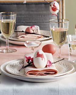 uova dipinte come segnaposto