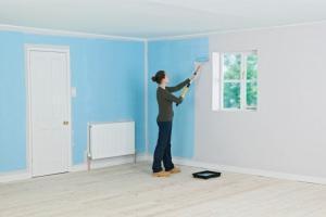 Tinteggiatura delle pareti con rullo