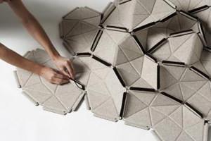 Clouds, sistema 3D in tessuto per decorare le pareti
