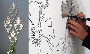 Makeupthewall, formine per decorare le pareti con pennarelli - particolare