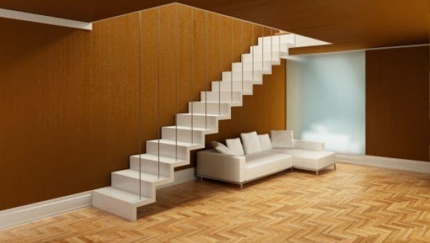 Scale interne minimaliste - Scale in lamiera piegata ...