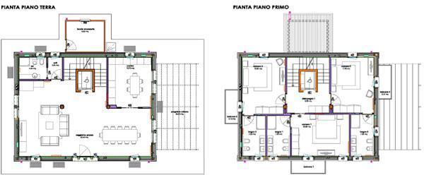 Progetti case for Moderna casa a 2 piani