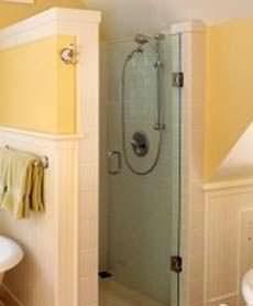 Una doccia in nicchia