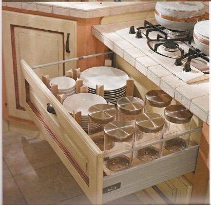 Cucine componibili - Cassetti per cucine in muratura ...