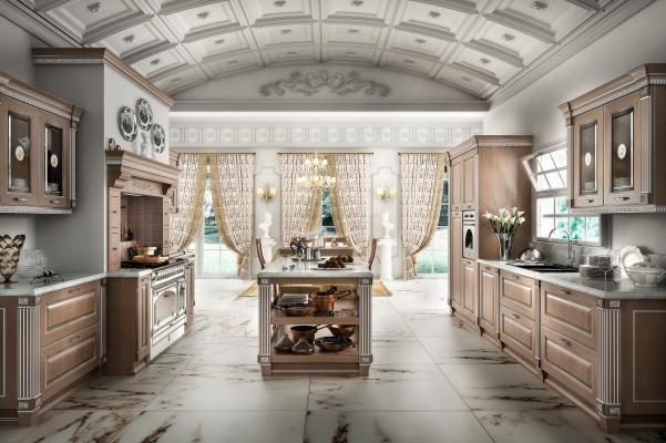Cucina componibile modello Imperial-CretaArgento