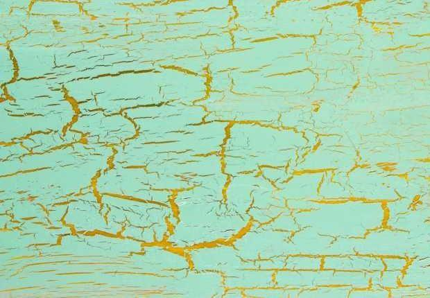 Craquelure sulla superficie di un dipinto (particolare)