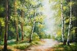 Paesaggio dipinto con la tecnica a olio su tela