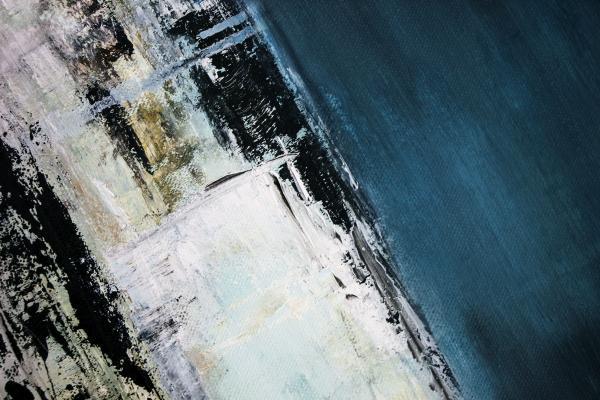 Particolare di un dipinto con tecnica acrilica