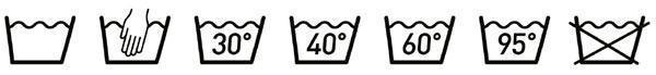 Etichette: simboli per il lavaggio